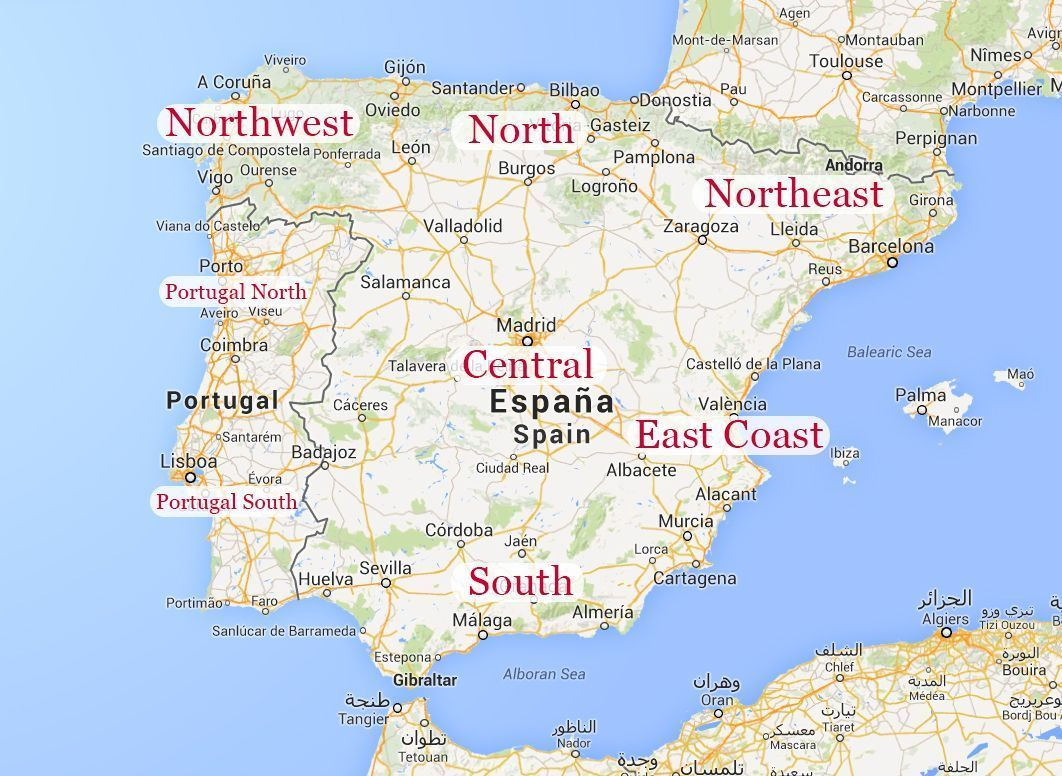 Detailed Map Of East Coast Of Spain.Experience Spain S East Coast Casa Abril